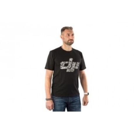 DJI Black T-Shirt(XXXL) -  DJI kereknyakú póló - XXXL