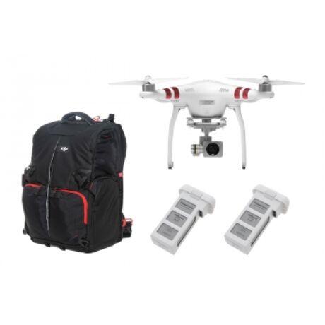 DJI - Phantom 3 Standard refurbished  + 2 extra batteries + táska