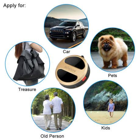 Mini GPS jeladó (gyerekeknek, személygépjárműnek, drónnak, reptéri poggyásznak)