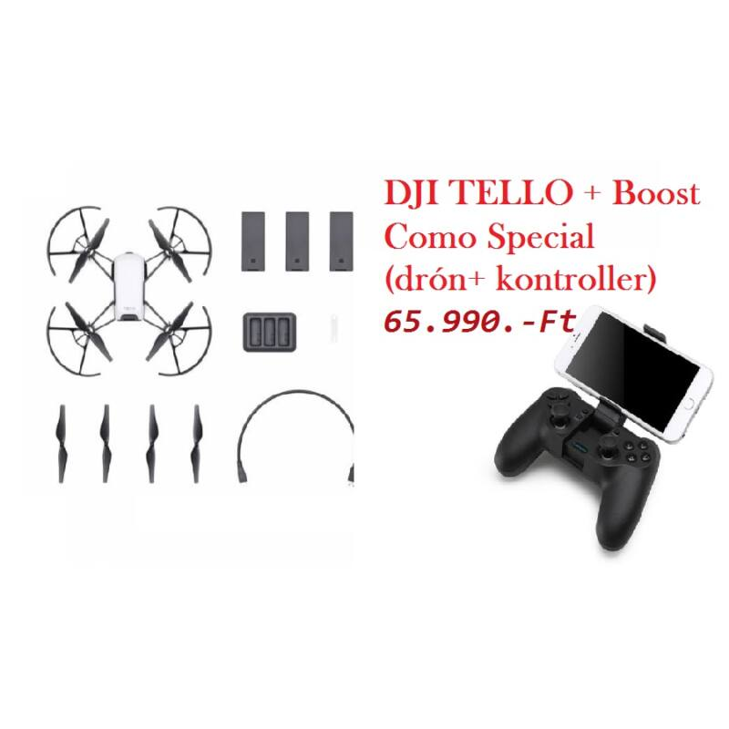 DJI TELLO + Boost Combo Special ( drón + 3akku + kontroller)